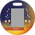 Full Color Round Bag Tag (Front)