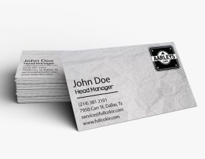 Flat Business Card (Horizontal) (100)