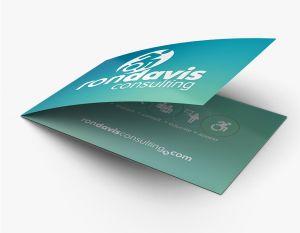 Side Fold Business Card (Horizontal) (100)
