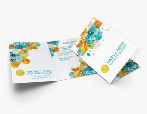 Side Fold Business Card (Vertical) (100)