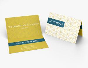 Top Fold Business Card (Horizontal) (100)