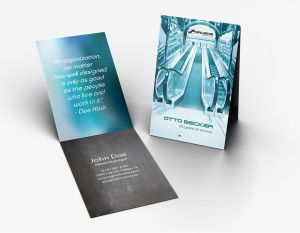 Top Fold Business Card (Vertical) (100)