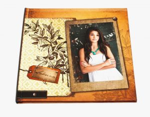 8½x11 Lay Flat Book with Photo Cover