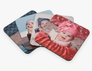 Masonite Coasters (4) - Square