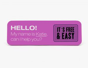 3x1 Name Badge (Rectangle)