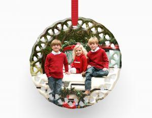 Porcelain Ornament - Wreath