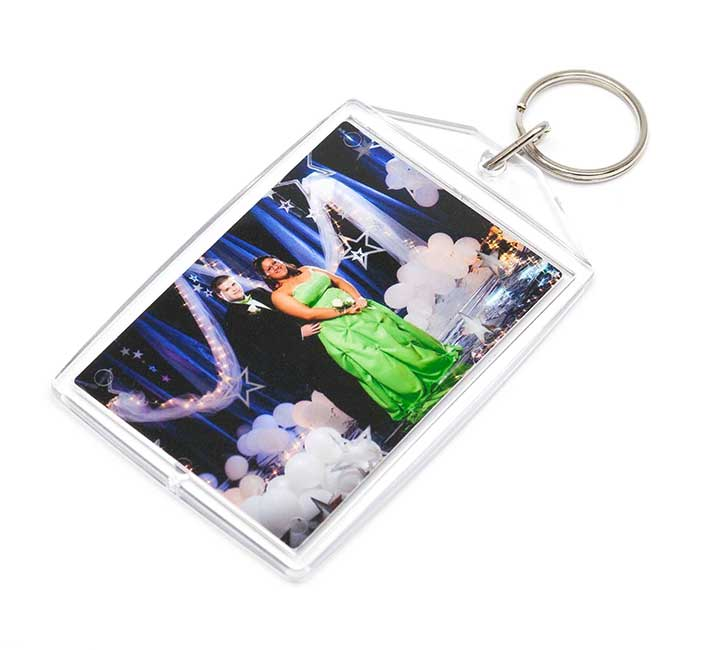 Full Color Large Photo Key Chain