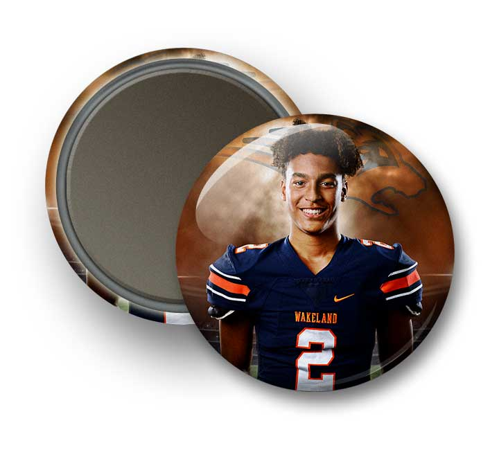 "Full Color 3½"" Photo Magnet Button"