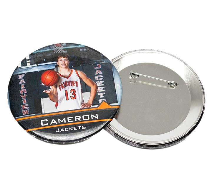 "Full Color 3"" Photo Pin Button"