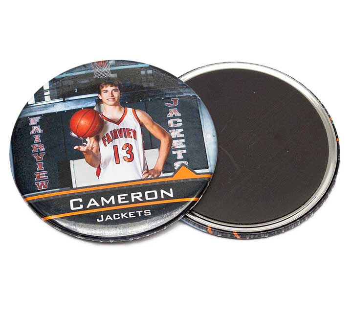 "Full Color 3"" Photo Magnet Button"