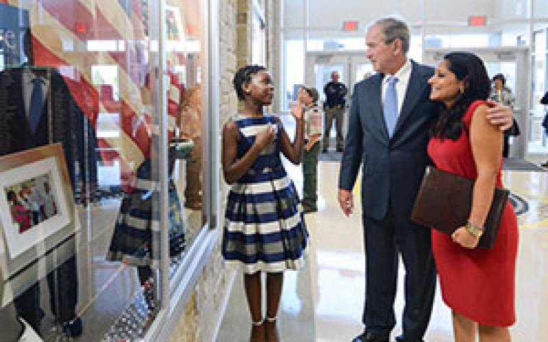 George W. Bush Elementary Dedication Exhibit